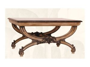Coffe Table art. 308, Table basse avec plateau en bois sculpt� � la main