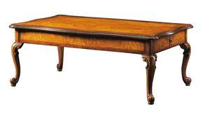 Dante FA.0122, Table basse rectangulaire Venetian '700