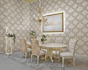 Diamante Art. 2622, Table de style classique, plateau ovale
