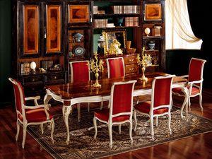 Display table 829, Table à manger en bois, style classique de luxe