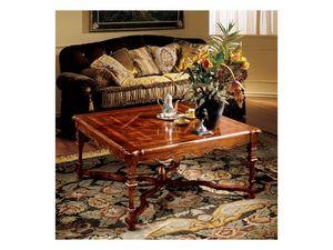 Elena coffee table 769, Table basse de luxe avec haut incrust�
