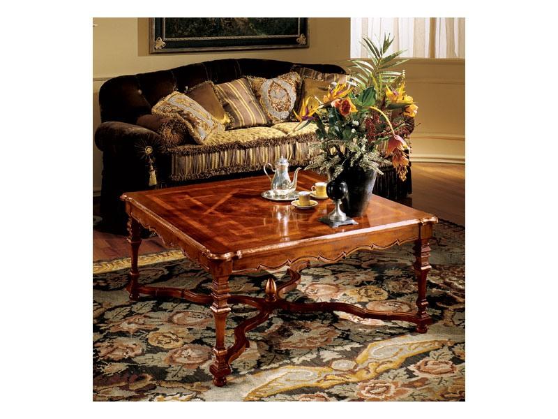 Elena coffee table 769, Table basse de luxe avec haut incrusté