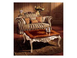 Emanuela coffee table 800, Table basse précieux avec des décorations faites à la main