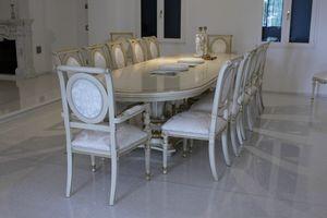 Eolo, Table ovale idéal pour les salles de réunion et des salles de conférence