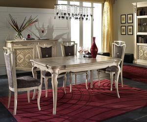 F 302, Table extensible en cendres, secours décorations