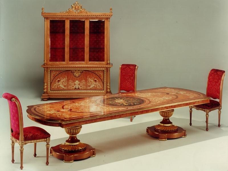F500 Table, Table en bois sculptés à la main solide, pour des séjours
