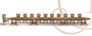 F979/A tableau, Personnalisable table de luxe classique en bois sculpté