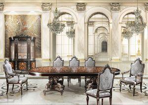 F981, Salle à manger avec une finition de la feuille d'argent, pour les cantines de luxe