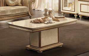 Fantasia table � caf�, Table basse avec dessus en marbre