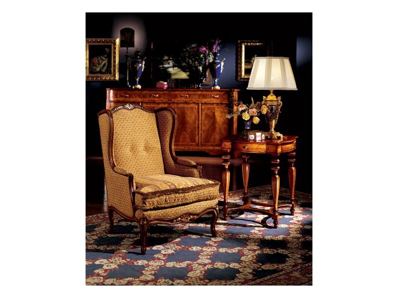 Ferrara side table 856, Luxe lampe de table classique en bois sculpté