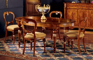 Ferrara table 743, Table à manger ovale avec des extensions