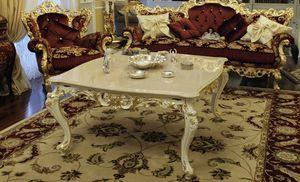 Firenze, Table basse de salon avec dessus en marbre