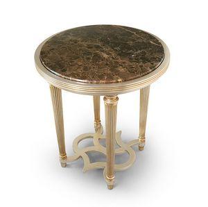 FLORA / table d'appoint avec plateau en marbre rond, Table d'appoint avec plateau en marbre