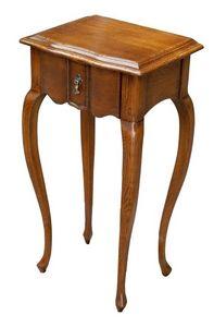 Gabriele FA.0140, Table en bois avec un tiroir, style classique de luxe