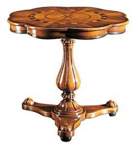 Gentilini RA.0685, Table avec une seule tige, pour salons de luxe classiques