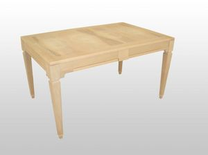 George, Table extensible en bois, placage de noyer top