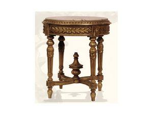 Gu�ridon art. 305, Gu�ridon en bois avec plateau en marbre, Style Louis XVI