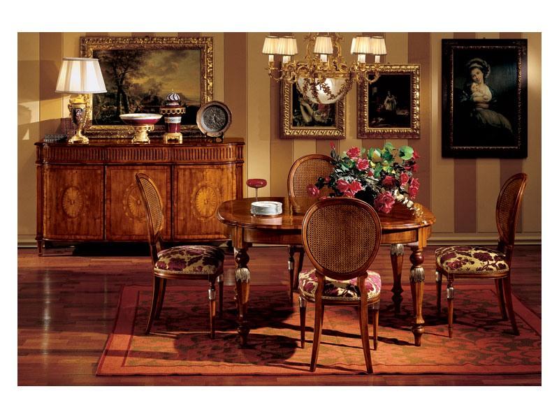 Hepplewhite table 742, Table luxe classique en bois pour salle à manger
