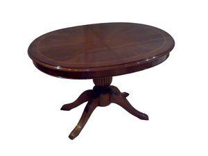 Hopkins, Extension de table ovale, style classique, la base sculpté