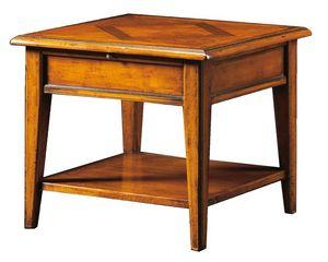Ivan FA.0125, Table basse carrée avec plancher en bois marqueté