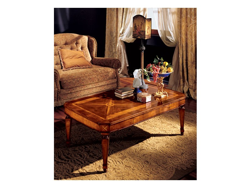 Katerina coffee table 853, Table basse avec des incrustations main