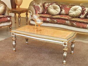 Kos Tableau, Table basse de style en bois sculpté, pour Hôtel de luxe