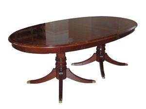 Langland, Table extensible classique, acajou plaqué