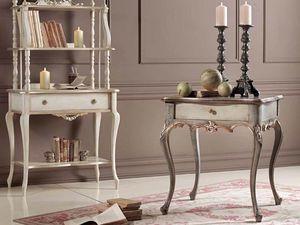 Loris table à café, Table basse classique avec tiroir et sculptures