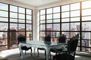 Luxury, Luxe tableau classique avec plateau en verre et finition argent