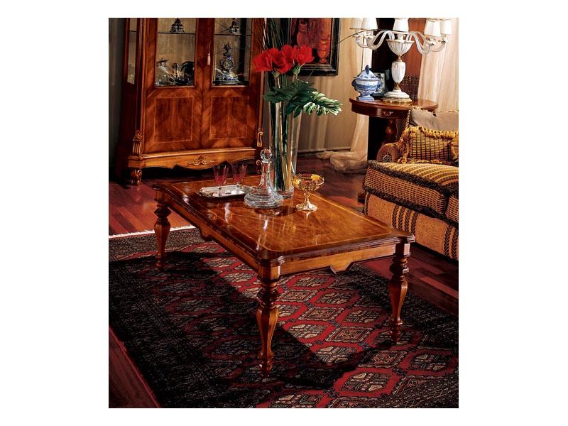 Marcus coffee table 771, Table basse en bois sculpté
