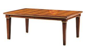 Masaccio RA.0677, Table en bois sculpté et incrusté de nacre