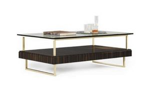 New York table, Table basse de style contemporain avec plateau en verre
