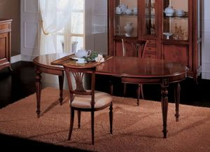 Opera table extensible, Table à manger extensible, style classique