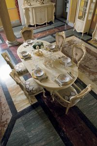 Opera table ovale, Table à manger ovale, style classique