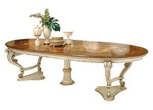 Orlov LU.0670, Table extensible, laqué et incrusté, dans un style classique
