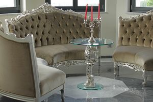 Oscar bois et verre, Table ronde pour hôtel de luxe