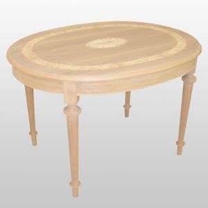 Percy, Table ovale avec des extensions, luxe classique