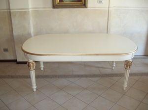 Philippe, Extensible table ovale pour les salles à manger de style classique