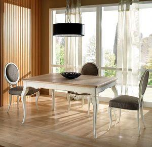R 302, Table rectangulaire, extensible, laqué, classique