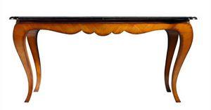 Reni RA.0671, Table extensible Chippendale en cerisier