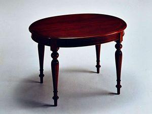 Scott, Table extensible, le style luxueusement classique, ovale
