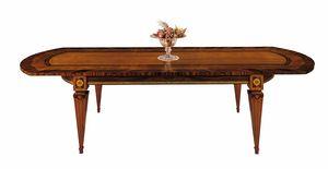 T522 Sinfonia table, Table incrusté, avec des extensions, pour salle à manger