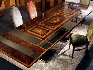 TA27 Luci della ribalta table, Table extensible, en haut du miroir, style classique