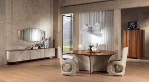 TA60 Desyo table, Table ronde adapté pour salle à manger classique