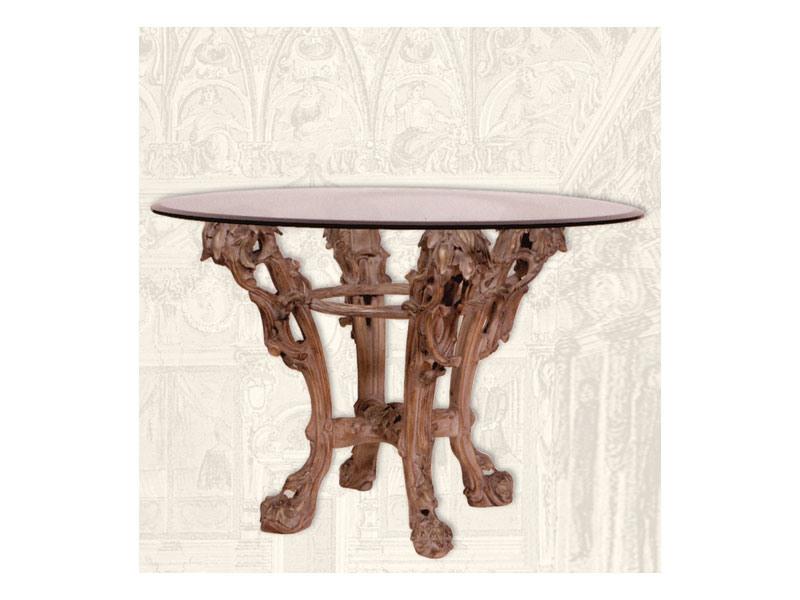 Table art. Sari, Table à manger en bois faits à la main, style Art Déco