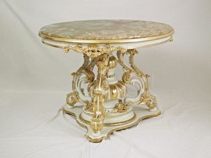 TABLE ART. TL 0009, Round petite table pour le hall central, dans le style «700