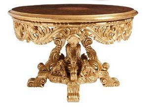 TABLE ART. TL 0050, Tableau sculpté de la salle du centre, avec dessus en marbre