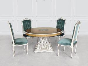 Tableau 1425, Table de luxe classique avec base en nacre