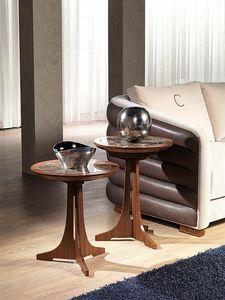 TL50 - TL51 Desyo petite table, Tables basses avec plateau rond en style classique