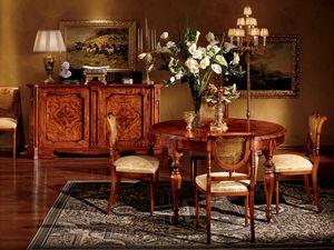 Venezia table 782, Table ronde pour salle à manger
